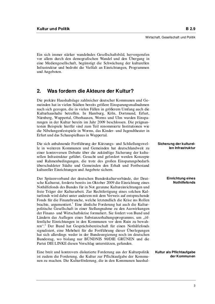 Kultur und Politik                                                                              B 2.9                     ...