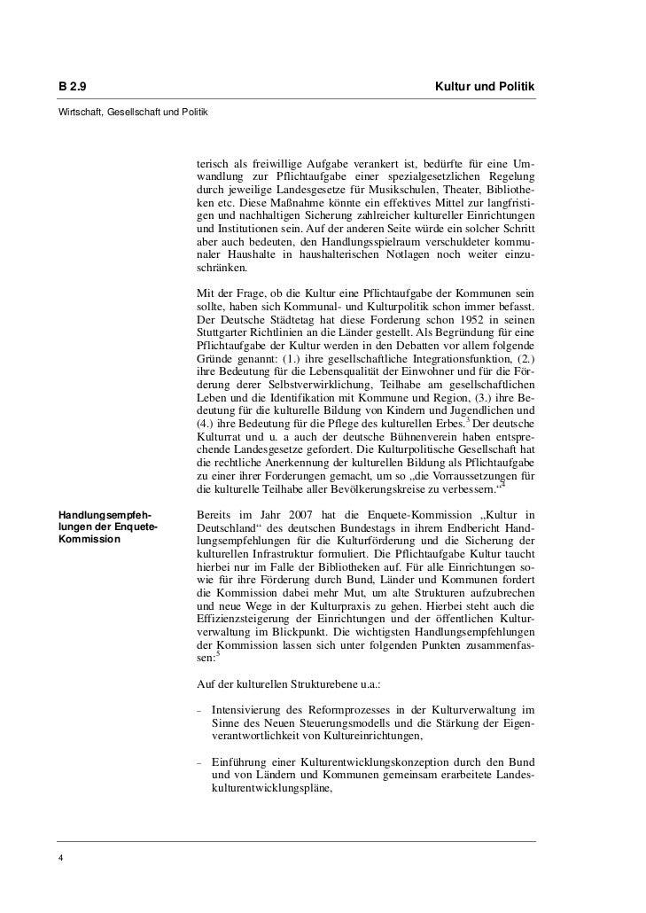 B 2.9                                                                              Kultur und PolitikWirtschaft, Gesellsch...