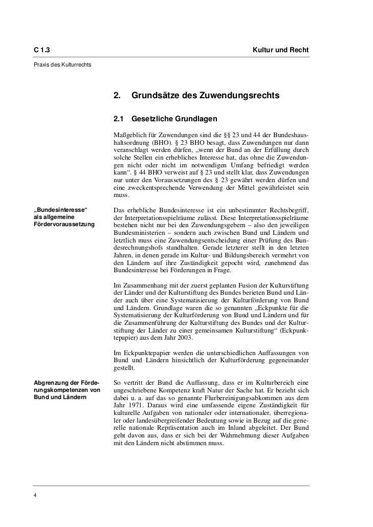 C 1.3                                                                      Kultur und RechtPraxis des Kulturrechts        ...