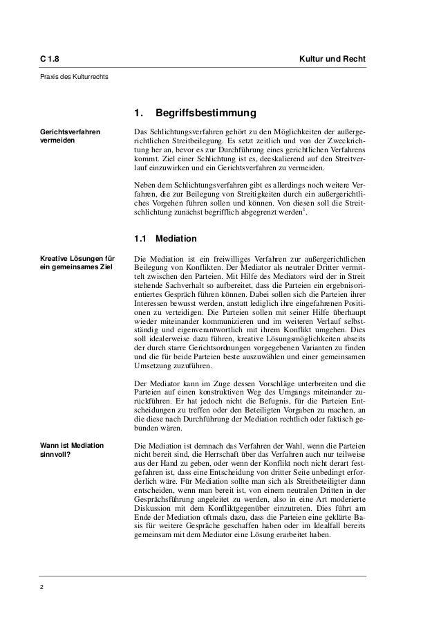 Oliver Boltze, Isabelle Herbert: Schlichtungsverfahren Slide 2