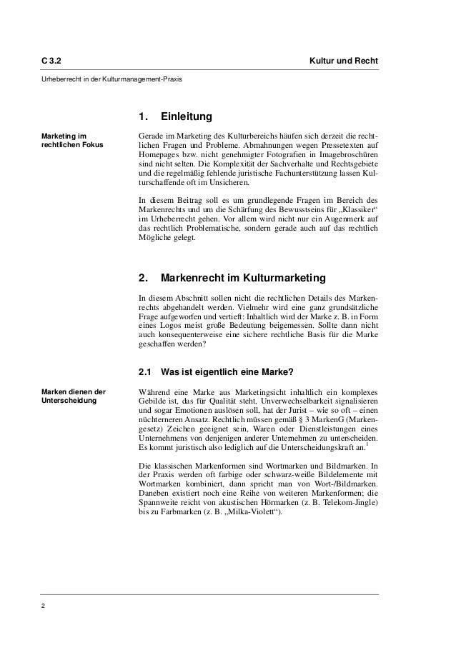 C 3.2                                                                          Kultur und RechtUrheberrecht in der Kulturm...