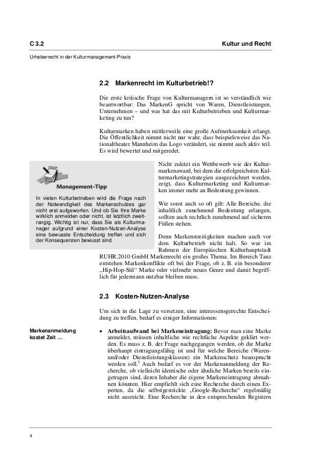 C 3.2                                                                             Kultur und RechtUrheberrecht in der Kult...