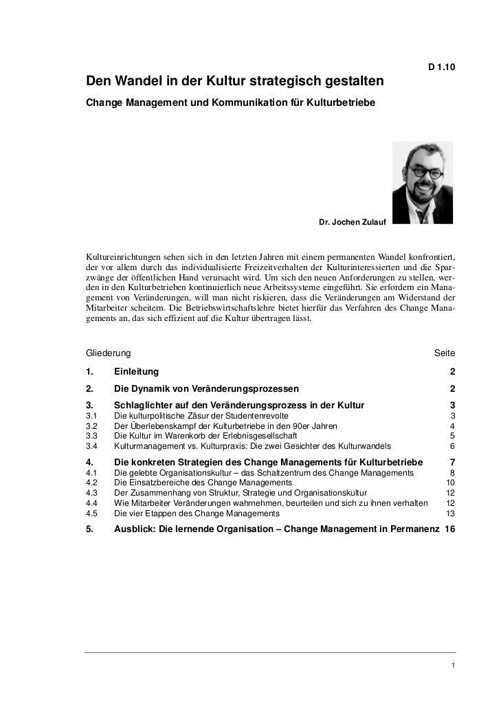 D 1.10Den Wandel in der Kultur strategisch gestaltenChange Management und Kommunikation für Kulturbetriebe                ...