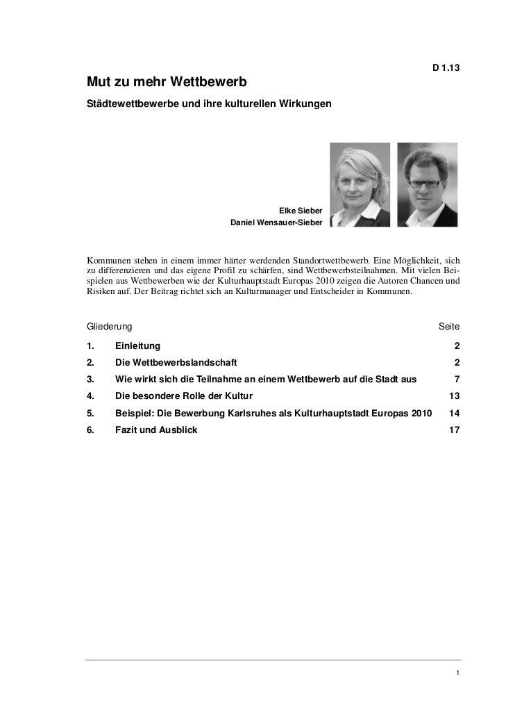 D 1.13Mut zu mehr WettbewerbStädtewettbewerbe und ihre kulturellen Wirkungen                                              ...