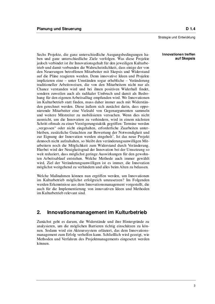 Prof. Dr. Andrea Hausmann: Erfolgreiches Innovationsmanagement in Kulturbetrieben Slide 3