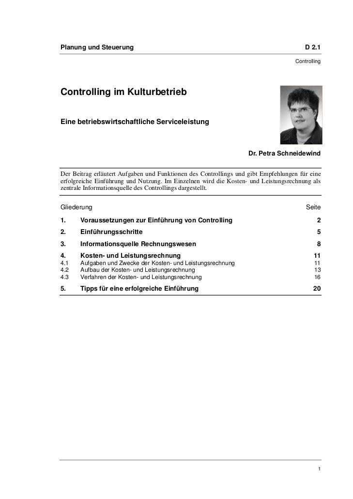 Planung und Steuerung                                                                  D 2.1                              ...