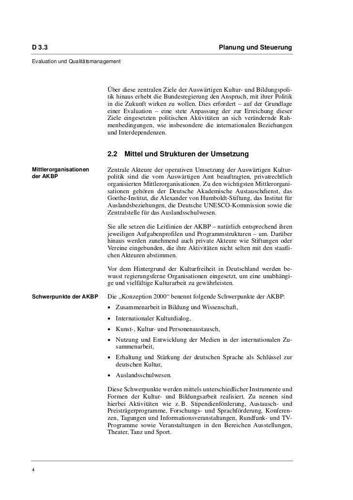 D 3.3                                                                 Planung und SteuerungEvaluation und Qualitätsmanagem...