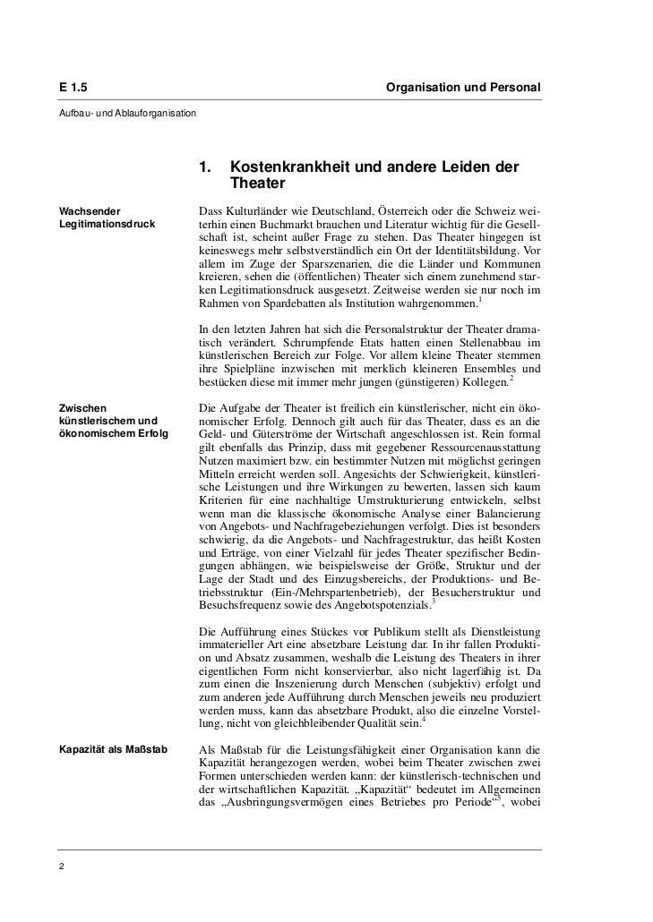 Markus Beecken: Freiräume schaffen  Rationalisierungen am Theater als Chance für Perspektiven Slide 2