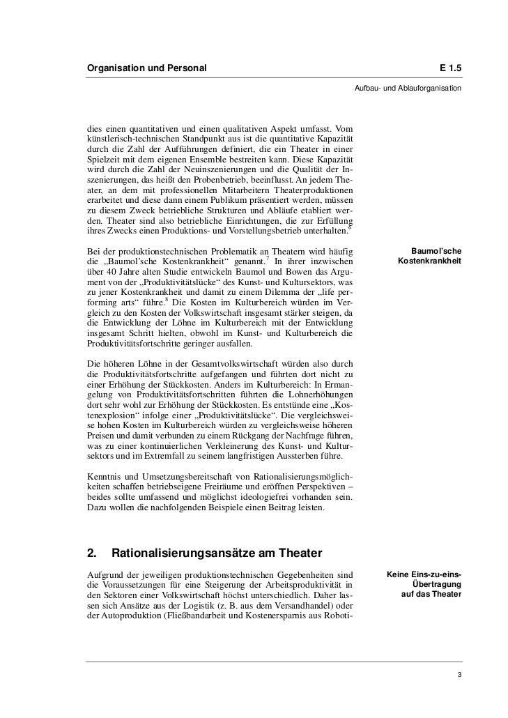 Markus Beecken: Freiräume schaffen  Rationalisierungen am Theater als Chance für Perspektiven Slide 3