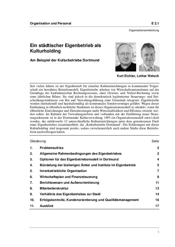 Organisation und Personal                                                                     E 2.1                       ...