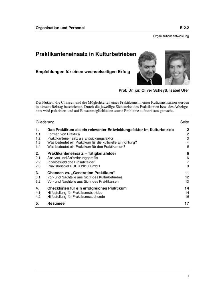 Organisation und Personal                                                                  E 2.2                          ...