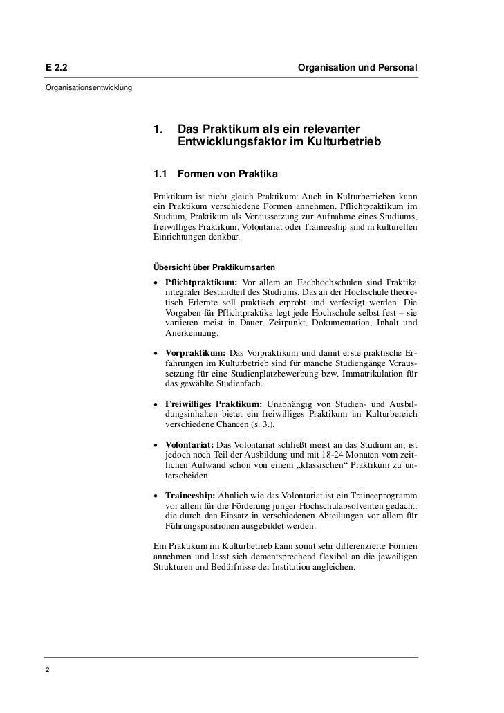 Prof. Dr. Oliver Scheytt, Isabel Ufer: Praktikanteneinsatz in Kulturbetrieben. Empfehlungen für einen wechselseitigen Erfolg Slide 2