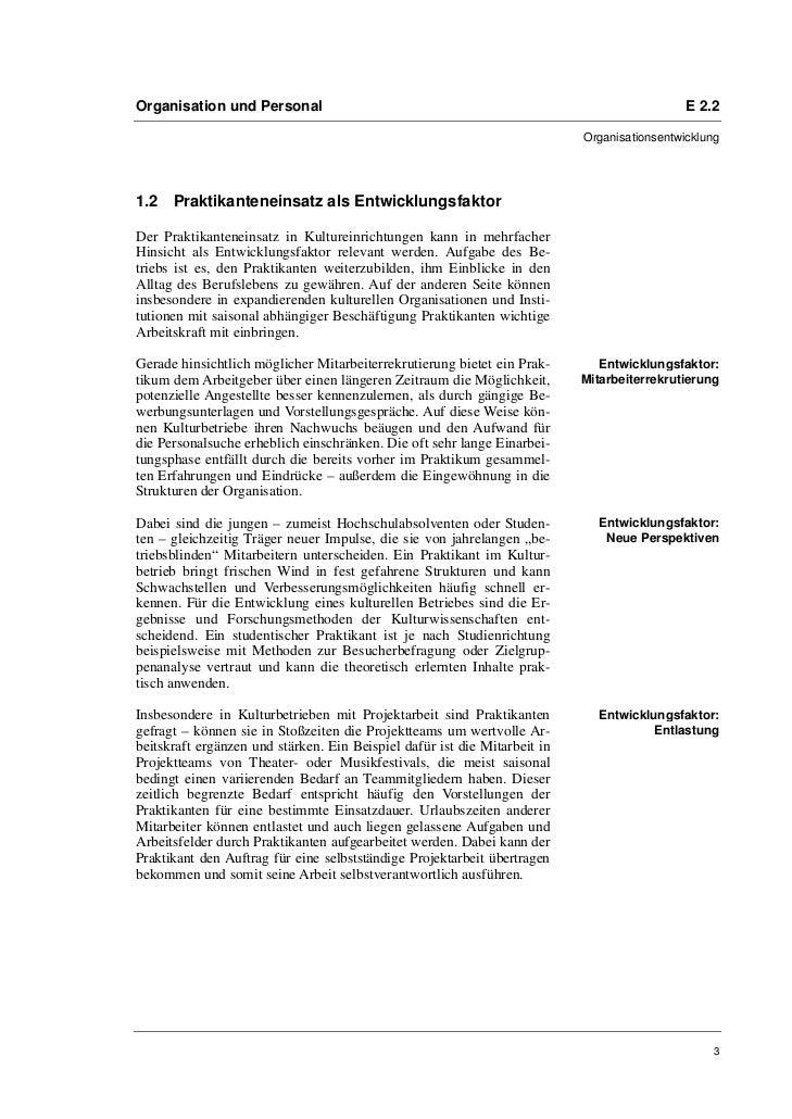 Prof. Dr. Oliver Scheytt, Isabel Ufer: Praktikanteneinsatz in Kulturbetrieben. Empfehlungen für einen wechselseitigen Erfolg Slide 3