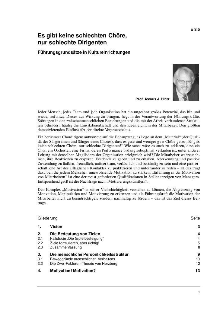 E 3.5Es gibt keine schlechten Chöre,nur schlechte DirigentenFührungsgrundsätze in Kultureinrichtungen                     ...