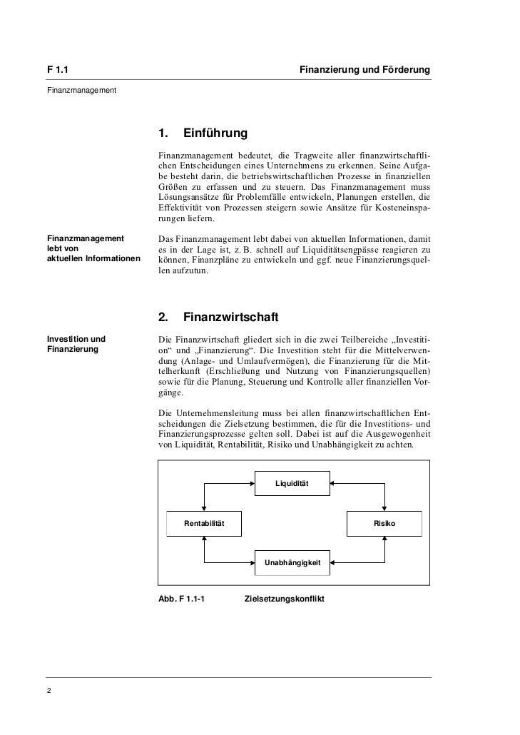 Prof. Günter Irmler: Finanzmanagement Slide 2