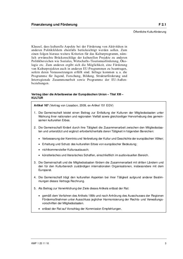 Finanzierung und Förderung                                                                           F 2.1                ...