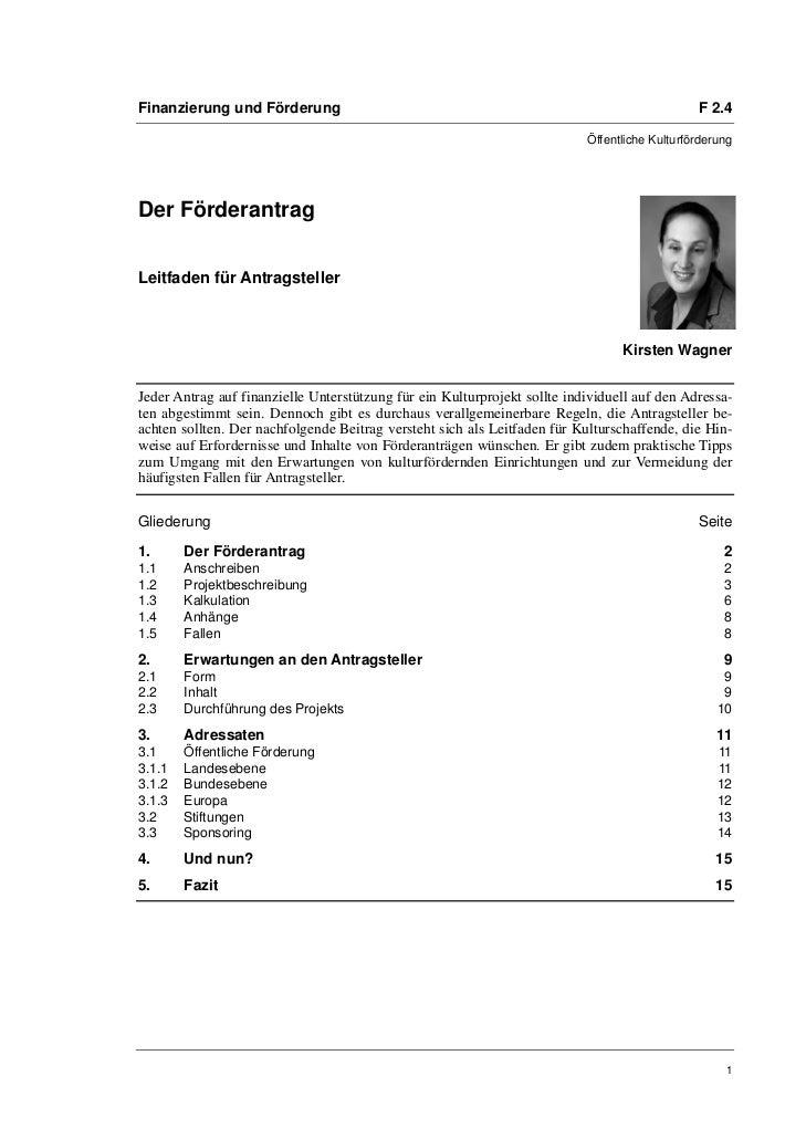 Finanzierung und Förderung                                                                     F 2.4                      ...