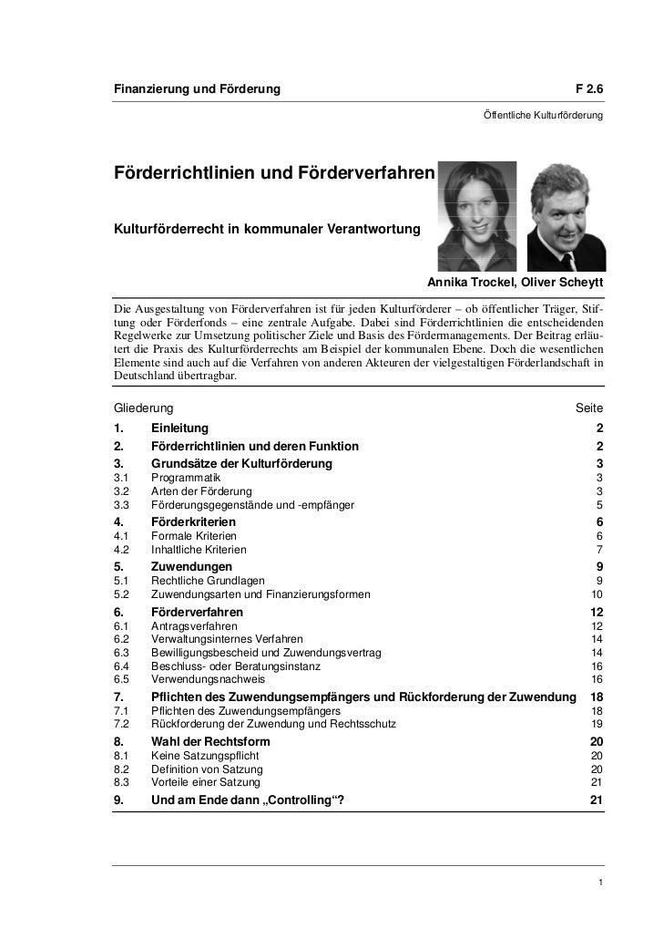 Finanzierung und Förderung                                                                    F 2.6                       ...