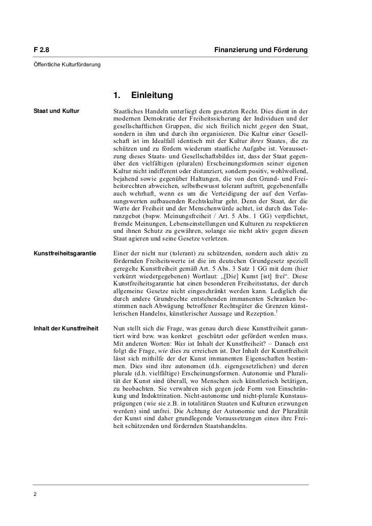Dr. Eckhard Braun: Prinzipien staatlicher Kunstförderung Slide 2