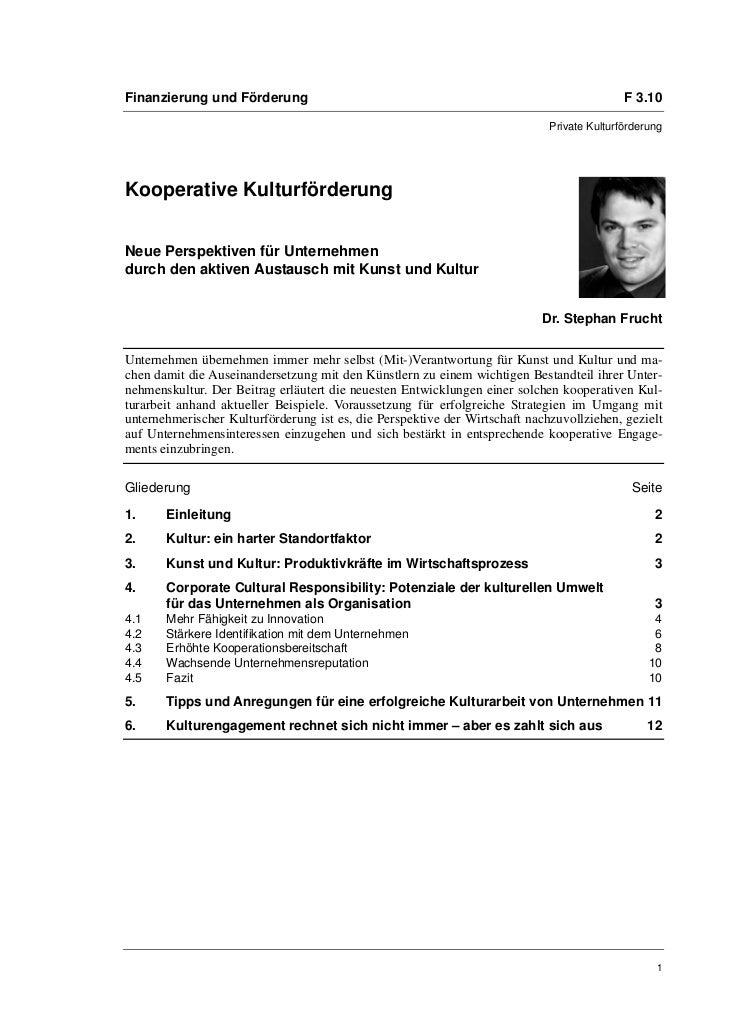 Finanzierung und Förderung                                                                  F 3.10                        ...