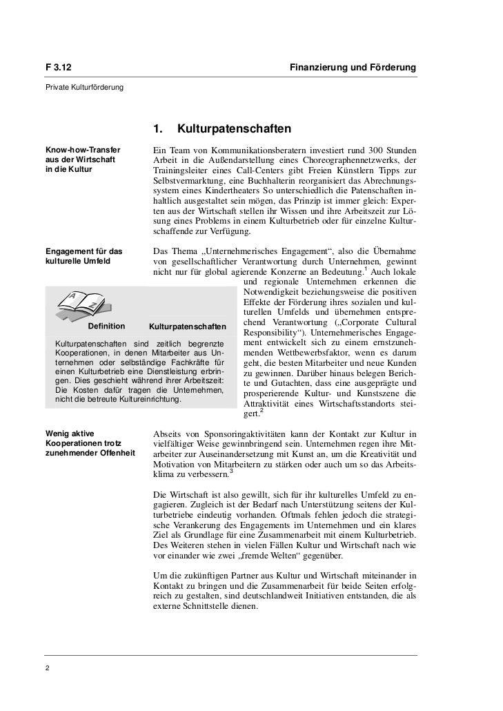 Karoline Kühnelt: Jenseits von Sponsoring mit Mehrwert für alle: Kulturpatenschaften Slide 2