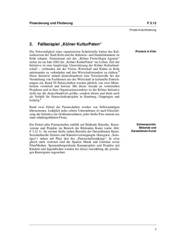 Karoline Kühnelt: Jenseits von Sponsoring mit Mehrwert für alle: Kulturpatenschaften Slide 3