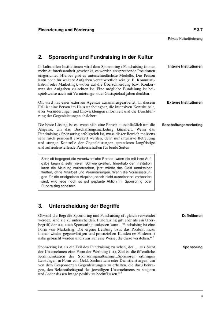 Kerstin Schilling: Institutional Readiness. Interne Voraussetzungen für erfolgreiches Sponsoring und Fundraising Slide 3