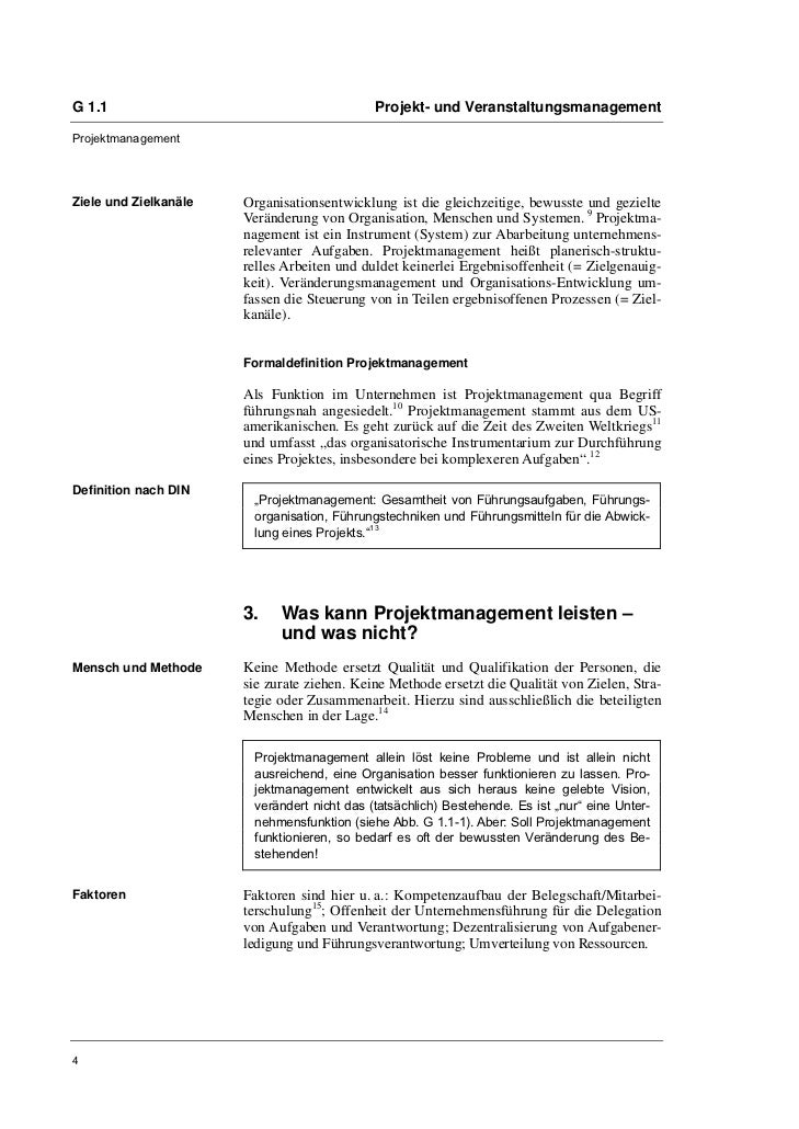 G 1.1                                        Projekt- und VeranstaltungsmanagementProjektmanagementZiele und Zielkanäle   ...