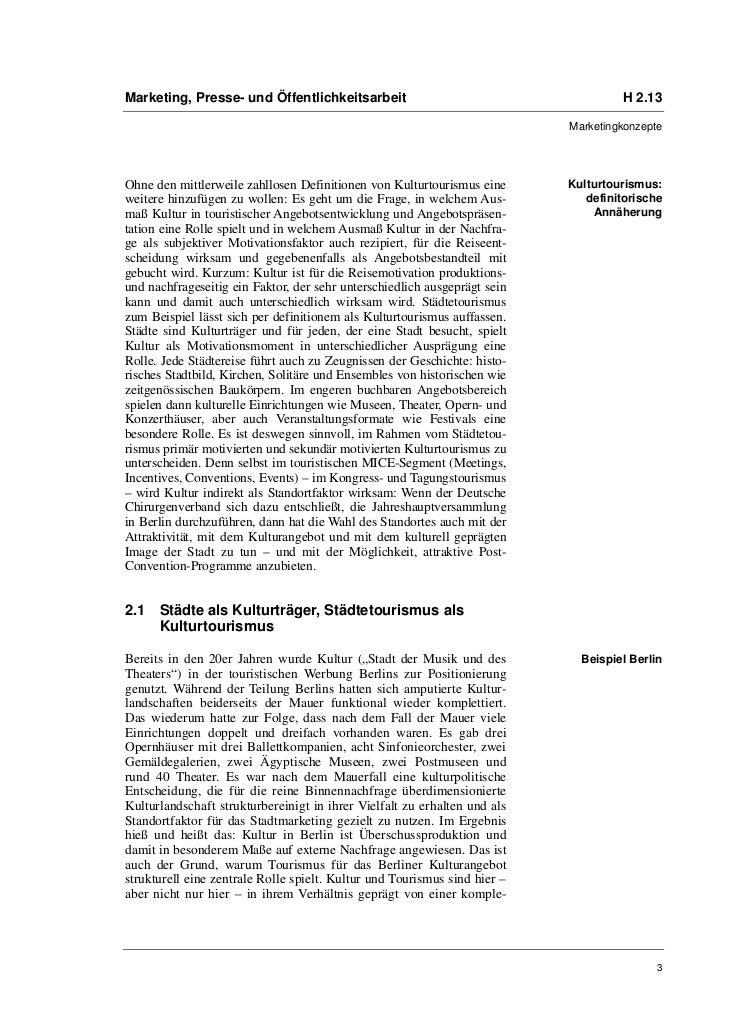 Marketing, Presse- und Öffentlichkeitsarbeit                                        H 2.13                                ...