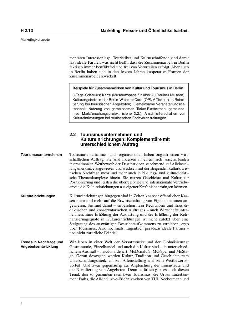 H 2.13                                       Marketing, Presse- und ÖffentlichkeitsarbeitMarketingkonzepte                ...