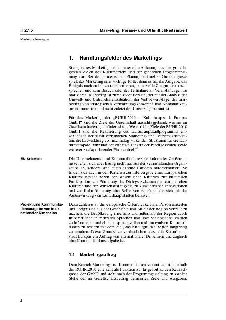 H 2.15                                      Marketing, Presse- und ÖffentlichkeitsarbeitMarketingkonzepte                 ...