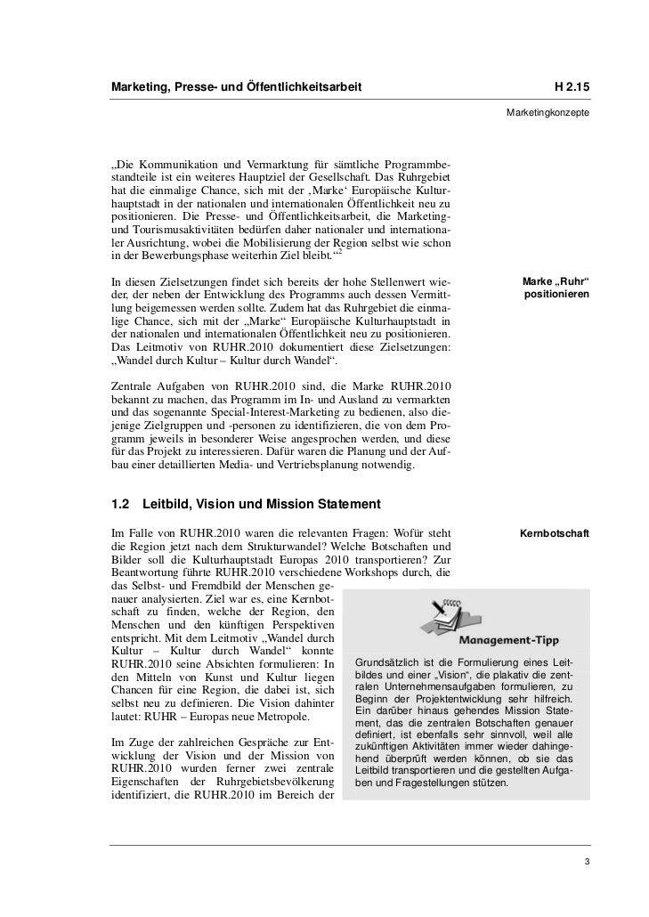 Marketing, Presse- und Öffentlichkeitsarbeit                                                   H 2.15                     ...