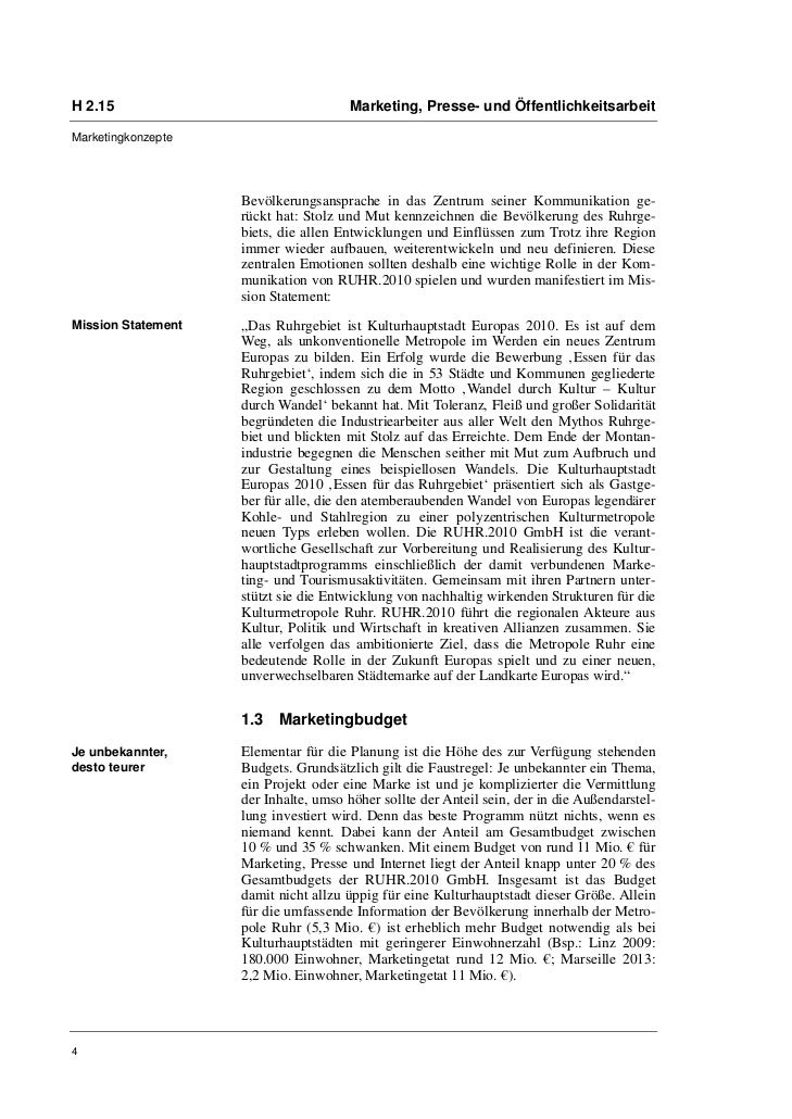 H 2.15                                Marketing, Presse- und ÖffentlichkeitsarbeitMarketingkonzepte                    Bev...