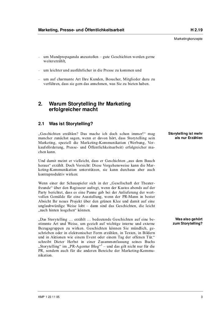 Marketing, Presse- und Öffentlichkeitsarbeit                                         H 2.19                               ...
