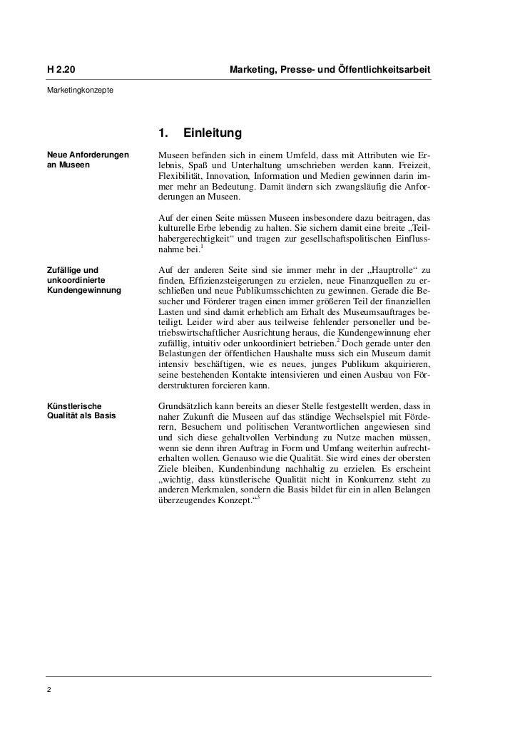 H 2.20                                 Marketing, Presse- und ÖffentlichkeitsarbeitMarketingkonzepte                     1...