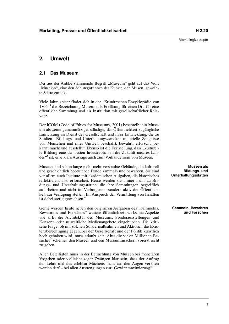 Marketing, Presse- und Öffentlichkeitsarbeit                                            H 2.20                            ...