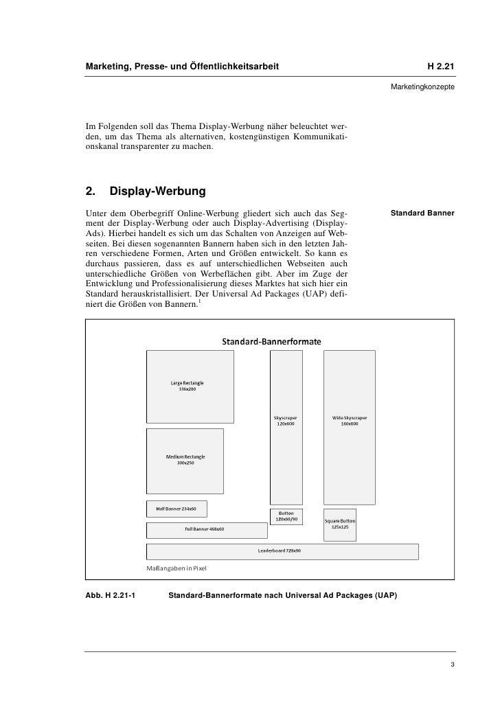 Marketing, Presse- und Öffentlichkeitsarbeit                                       H 2.21                                 ...