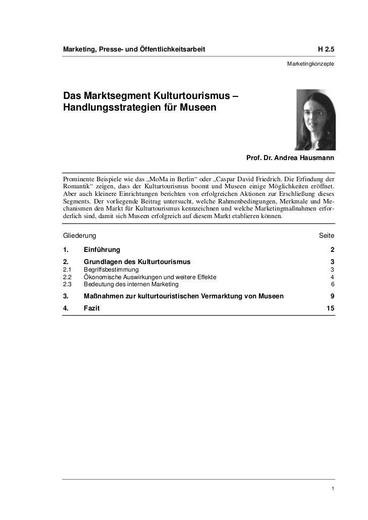 Marketing, Presse- und Öffentlichkeitsarbeit                                           H 2.5                              ...