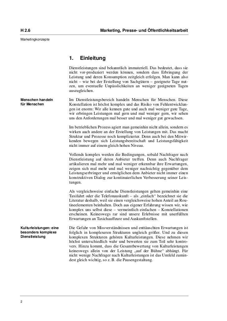 H 2.6                                      Marketing, Presse- und ÖffentlichkeitsarbeitMarketingkonzepte                  ...