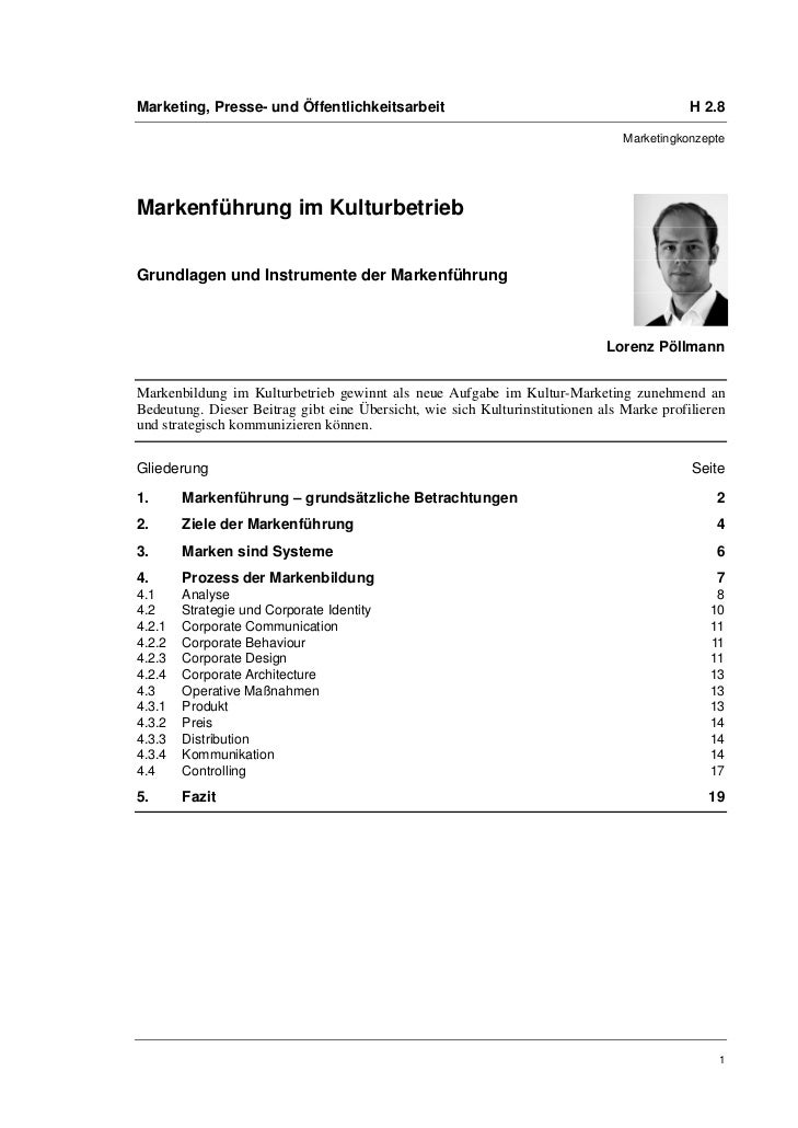 Marketing, Presse- und Öffentlichkeitsarbeit                                               H 2.8                          ...