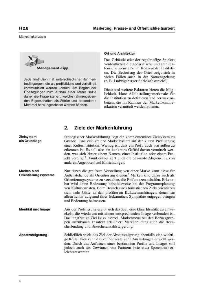H 2.8                                              Marketing, Presse- und ÖffentlichkeitsarbeitMarketingkonzepte          ...