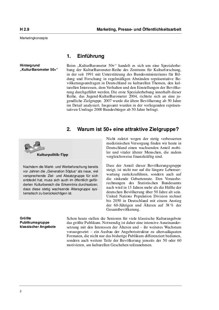 Dr. Susanne Keuchel: Kulturmarketing für ältere Zielgruppen Slide 2
