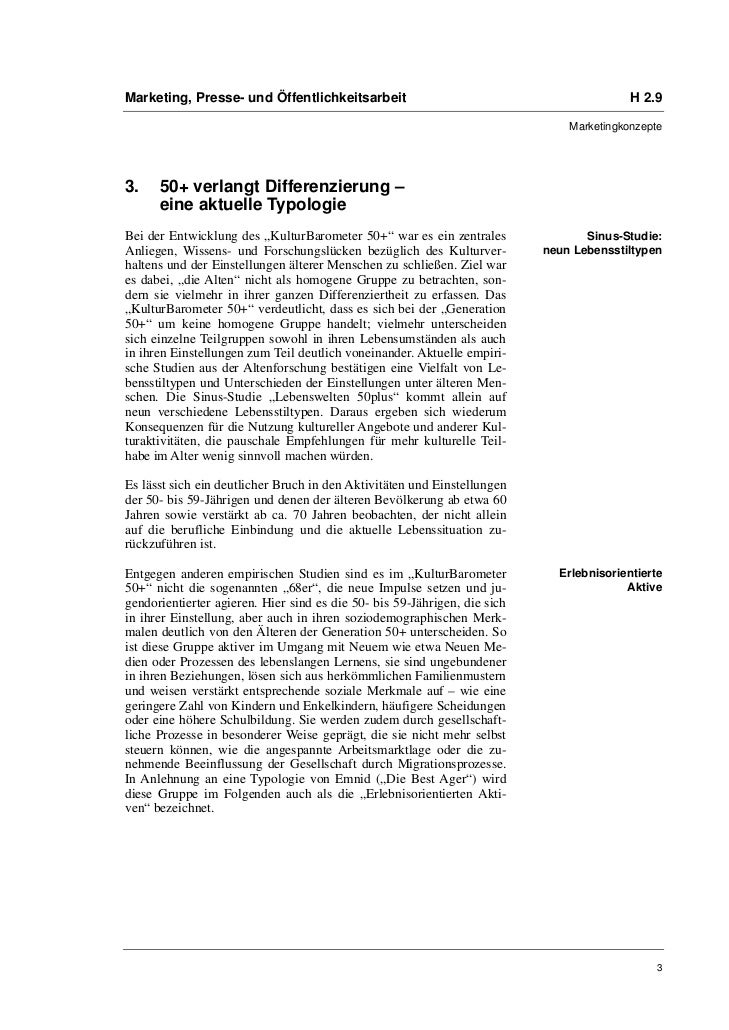 Dr. Susanne Keuchel: Kulturmarketing für ältere Zielgruppen Slide 3