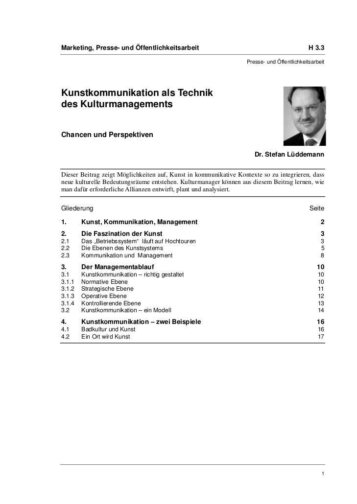 Marketing, Presse- und Öffentlichkeitsarbeit                                                H 3.3                         ...