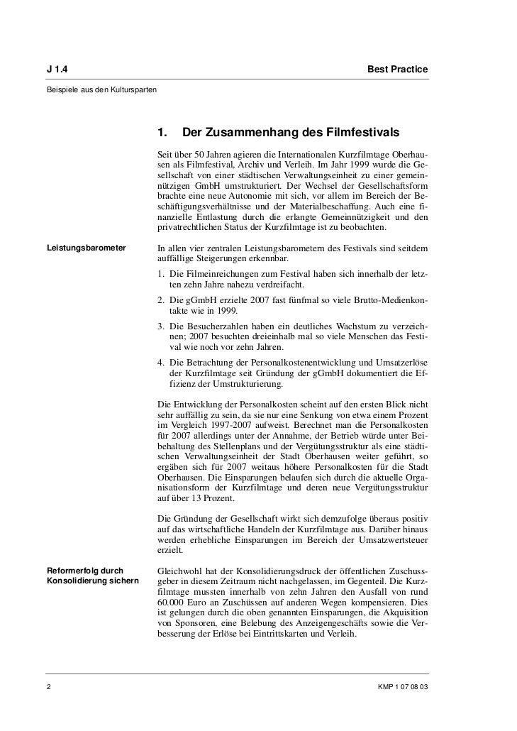 Ulrike Erbslöh, Dr. Lars H. Gass, Mareike Vorbeck: Der Kulturwirtschaftsbericht der Internationalen Kurzfilmtage Oberhausen Slide 2