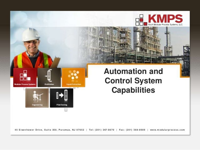 Automation and Control System Capabilities 45 Eisenhower Drive, Suite 350, Paramus, NJ 07652 | Tel: (201) 267-8670 | Fax: ...