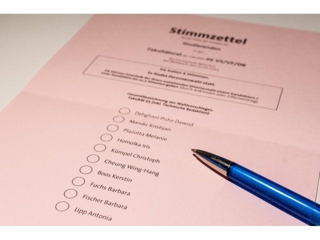 Nicht meckern - machen!  • Es liegt an Euch, die Hochschulwahl selber mitzugestalten  • Als Kandidaten für die Wahl aufste...