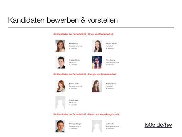 Fragen, Anregungen oder Kritik?  info@fs05.de