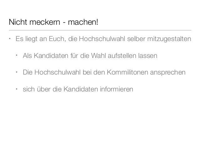 Hochschulwahl an der Hochschule München