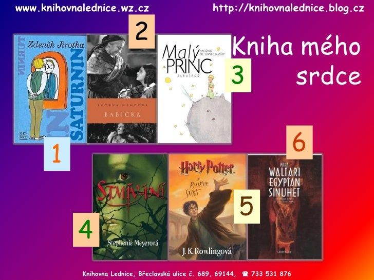 Knihovna Lednice,  Břeclavská ulice č.  689 , 69144,    733 531 876 www.knihovnalednice.wz.cz  http://knihovnalednice.blo...